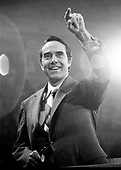 United States Senator Bob Dole (Republican of Kansas), the 1976 Republican nominee for Vice President of the United States, speaks at the Republican National Convention at the Kemper Arena in Kansas City, Missouri on August 19, 1976.<br /> Credit: Arnie Sachs / CNP
