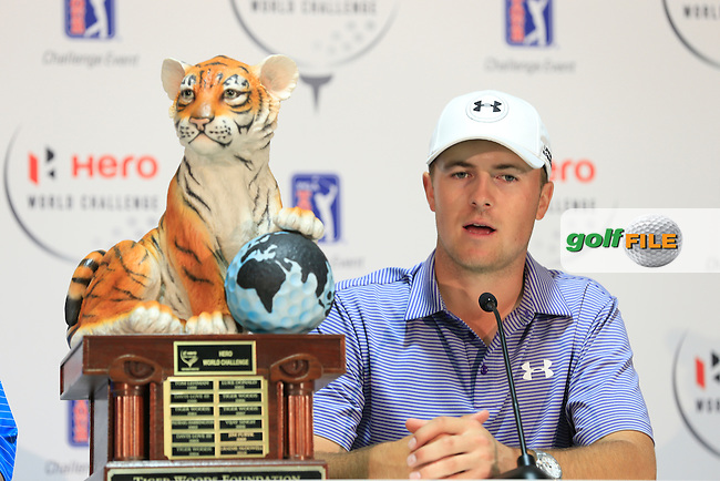 Jordan Spieth (USA)  winner by 10 shots of the Hero World Challenge, Isleworth Golf &amp; Country Club, Windermere, Orlando Florida, USA. 07/12/2014<br /> Picture Fran Caffrey, www.golffile.ie