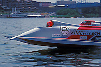 Start: Ben Robertson (#57) and Cees van der Velden (#1) USFORA Formula One (F1) Tunnel Boats, Cincinnati, Ohio 1988