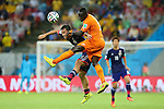 Shinji Okazaki (JPN), <br /> JUNE 14, 2014 - Football /Soccer : <br /> 2014 FIFA World Cup Brazil <br /> Group Match -Group C- <br /> between Cote d'Ivoire 2-1 Japan <br /> at Arena Pernambuco, Recife, Brazil. <br /> (Photo by YUTAKA/AFLO SPORT) [1040]