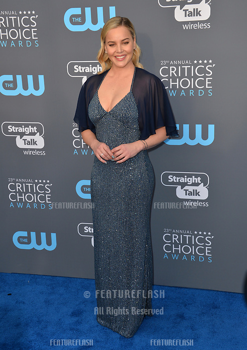 Abbie Cornish at the 23rd Annual Critics' Choice Awards at Barker Hangar, Santa Monica, USA 11 Jan. 2018<br /> Picture: Paul Smith/Featureflash/SilverHub 0208 004 5359 sales@silverhubmedia.com