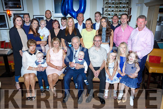 Gene Moriarty Lissivigeen Killarney celebrated his 80th birthday with his family and friends in the Royal Hotel Killarney on Saturday night