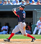 14 March 2009: Boston Red Sox' catcher Josh Bard in action during a Spring Training game against the Baltimore Orioles at Fort Lauderdale Stadium in Fort Lauderdale, Florida. The Orioles defeated the Red Sox 9-8 in the Grapefruit League matchup. Mandatory Photo Credit: Ed Wolfstein Photo