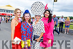 Jordana Lambadarios (Templeglantine), Laura Sheehy (Abbeyfeale), Mary Woulfe (Athea) and Nadine Smith (Abbeyfeale) all ready for Ladies Day at the Listowel Races on Sunday.