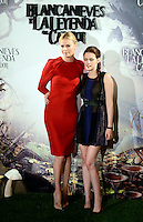 Kristen Stewart y Charlize Theron asisten al photocall de la pelicula 'Blancanieves y la Leyenda del Cazador' en la Casa America de Madrid.             ----------------------------Kristen Stewart and Charlize Theron attend the photocall of the movie 'Snow White and the Huntsman' at the Casa America in Madrid *NortePhoto*<br />