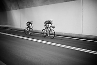 Teammates Julian Alaphilippe (FRA/Etixx-QuickStep) &amp; Tony Martin (DEU/Etixx-Quickstep) go on the attack from pretty early on &amp; will stay ahead from more than 170km before being caught by the peloton <br /> <br /> stage 16: Morain-en-Montagne to Bern (SUI) / 209km<br /> 103rd Tour de France 2016