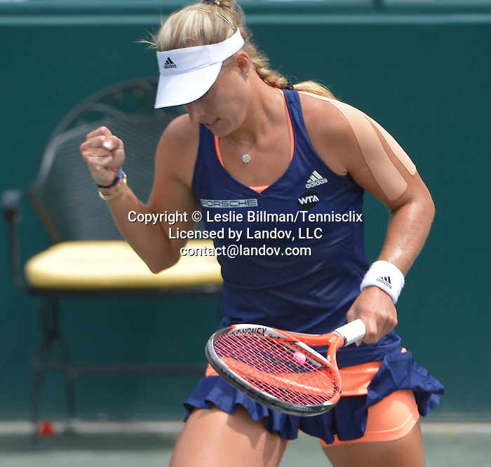 Angelique Kerber  (GER) defeats Madison Keys (USA) to win the Family Circle Cup in Charleston, South Carolina on April 12, 2015.