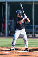 AZL Indians 1 center fielder Steven Kwan (7) at bat during an Arizona League game against the AZL Cubs 1 at Sloan Park on August 27, 2018 in Mesa, Arizona. The AZL Cubs 1 defeated the AZL Indians 1 by a score of 3-2. (Zachary Lucy/Four Seam Images)