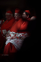 Pope Francis leads a consistory for the creation of five new cardinals  at St Peter's basilica in Vatican.  from countries  : El Salvador, Laos, Mali,Sweden and Spain.<br /> Cardinal Gregorio Rosa Chavez from Salvador;Cardinal Louis-Marie Ling Mangkhanekhoun from Laos;Cardinal Anders Arborelius from Sweden;Cardinal Jean Zerbo from Mali;Cardinal Juan Jos&eacute; Omella of Spain on June 28, 2017