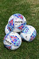 A close up of EFL Mitre Delta match footballs<br /> <br /> Photographer Chris Vaughan/CameraSport<br /> <br /> Football - Pre-Season Friendly - Lincoln United v Lincoln City - Saturday 8th July 2017 - Sun Hat Villas Stadium - Lincoln<br /> <br /> World Copyright &copy; 2017 CameraSport. All rights reserved. 43 Linden Ave. Countesthorpe. Leicester. England. LE8 5PG - Tel: +44 (0) 116 277 4147 - admin@camerasport.com - www.camerasport.com