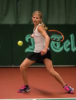 Netherlands, The Hague,  March 10, 2017, Tennis,  National Indoor Junior Championships, NOJK, 12-16 years, Nina Kwakman (NED)<br /> Photo: Tennisimages/Henk Koster