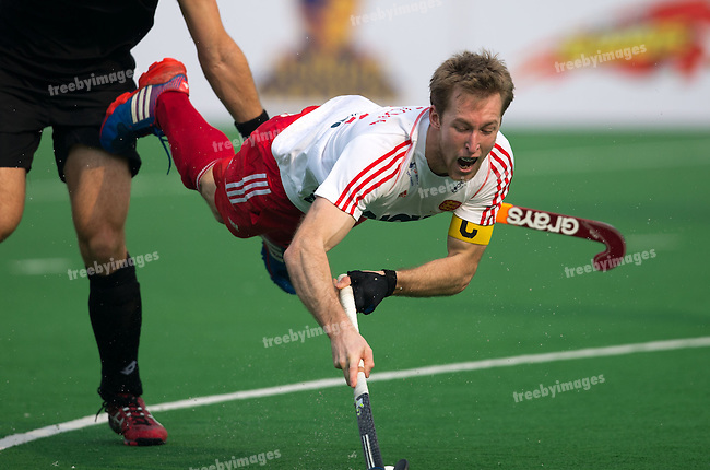Mens Hockey World league Final Delhi 2014<br /> Day 3 England v New Zealand12-01-2014<br /> <br /> <br /> Photo: Grant Treeby / treebyimages
