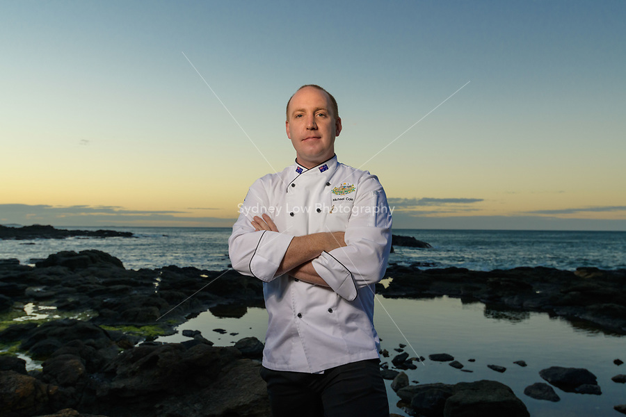 Melbourne, March 28, 2018 - Michael Cole poses for a photograph at Flinders, Victoria ahead of competing at the Bocuse d'Or Asia Pacific in Guangzhou, China. Photo Sydney Low.