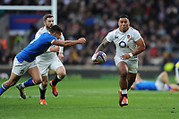 Manu Tuilagi of England in action during the Guinness Six Nations match between England and Italy at Twickenham Stadium on Saturday 9th March 2019 (Photo by Rob Munro/Stewart Communications)