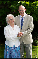 BNPS.co.uk (01202 558833)<br /> Pic: PhilYeomans/BNPS<br /> <br /> A couple with a combined age of 183 have tied the knot to become Britain's oldest newlyweds.<br /> <br /> Rob Cave, 91, and 92-year-old Margaret James, a former actress who appeared in the classic romance film Brief Encounter, wed in front of 150 friends and family at Wimborne Minster in Dorset.<br /> <br /> The church-going couple have known each other for over 30 years but became an item after their respective spouses died within three months of each other in 2015.<br /> <br /> They consoled each other to begin with and from seeing each other every day, their friendship developed into a romance.