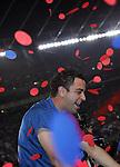 Xavi Hernandez celebrates winning the La Liga title. Barcelona v Osasuna (0-1), La Liga, Nou Camp, Barcelona, 23rd May 2009.
