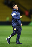 Bristol City's Lee Johnson celebrates at the final whistle during the Carabao cup match at Vicarage Road Stadium, Watford. Picture date 22nd August 2017. Picture credit should read: David Klein/Sportimage