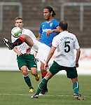 Bilel Mohsni does a nice flick to beat two players