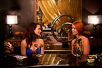 Sex and the City 2 (2010) <br /> Cynthia Nixon &amp; Kristin Davis<br /> *Filmstill - Editorial Use Only*<br /> CAP/MFS<br /> Image supplied by Capital Pictures
