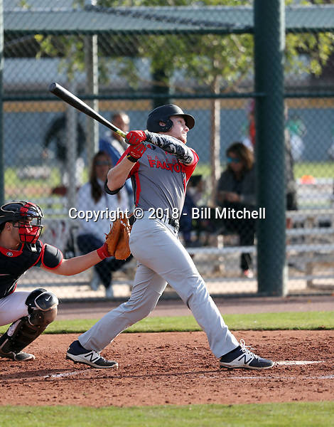 Dylan Rogers takes part in the 2018 Under Armour Pre-Season All-America Tournament at the Chicago Cubs training complex on January 13-14, 2018 in Mesa, Arizona (Bill Mitchell)