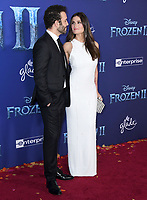 """07 November 2019 - Hollywood, California - Aaron Lohr, Idina Menzel. Disney's """"Frozen 2"""" Los Angeles Premiere held at Dolby Theatre.        <br /> CAP/ADM/BT<br /> ©BT/ADM/Capital Pictures"""