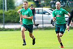 05.07.2019, Parkstadion, Zell am Ziller, AUT, TL Werder Bremen - Tag 01<br /> <br /> im Bild / picture shows <br /> <br /> Laufuebungen / Sprintuebungen<br /> Niklas Moisander (Werder Bremen #18)<br /> Davy Klaassen (Werder Bremen #30)<br /> <br /> <br /> Foto © nordphoto / Kokenge