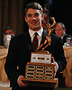 Mike Elardo of Syosset poses for a picture after winning the most outstanding receiver award at the Nassau County High School Football Coaches Association Gridiron Banquet at Crest Hollow Country Club on Wednesday, Dec. 9, 2015.