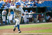 UCLA CF Beau Amaral in Game 13 of the NCAA Division One Men's College World Series on June 26th, 2010 at Johnny Rosenblatt Stadium in Omaha, Nebraska.  (Photo by Andrew Woolley / Four Seam Images)