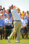 27 August 2009: 2009 U.S. Open Champion Lucas Glover tees off on the 4th hole during the first round of The Barclays PGA Playoffs at Liberty National Golf Course in Jersey City, New Jersey.
