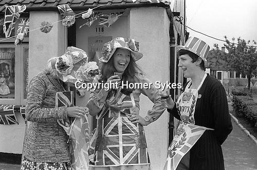 Silver Jubilee Street Party 1977 Barking east London. UK<br /> <br /> My ref 33/2058/,1977,