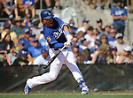 Los Angeles Dodgers' Justin Turner hits against the Arizona Diamondbacks in a spring training game in Glendale, Ariz., on Friday, March 24, 2017.<br /> Photo by Cathleen Allison/Nevada Photo Source