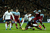29th January 2020; London Stadium, London, England; English Premier League Football, West Ham United versus Liverpool; Divock Origi of Liverpool is brought down for a penalty