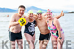 At the Fenit Beach Launch of Christmas Day Swim in aid of the Fenit RNLI ,Declan Crowe, Rosie Foley, Noel Ryan and Fionnula Walsh test the water.