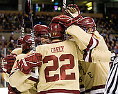 - The Boston College Eagles defeated the Northeastern University Huskies 7-1 in the opening round of the 2012 Beanpot on Monday, February 6, 2012, at TD Garden in Boston, Massachusetts.