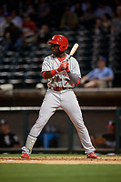 Chattanooga Lookouts Taylor Trammell (7) at bat during a Southern League game against the Birmingham Barons on May 2, 2019 at Regions Field in Birmingham, Alabama.  Birmingham defeated Chattanooga 4-2.  (Mike Janes/Four Seam Images)