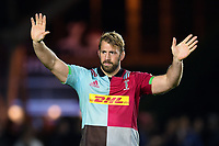 Chris Robshaw of Harlequins waves to the crowd after the match. Aviva Premiership match, between Harlequins and Sale Sharks on October 6, 2017 at the Twickenham Stoop in London, England. Photo by: Patrick Khachfe / JMP