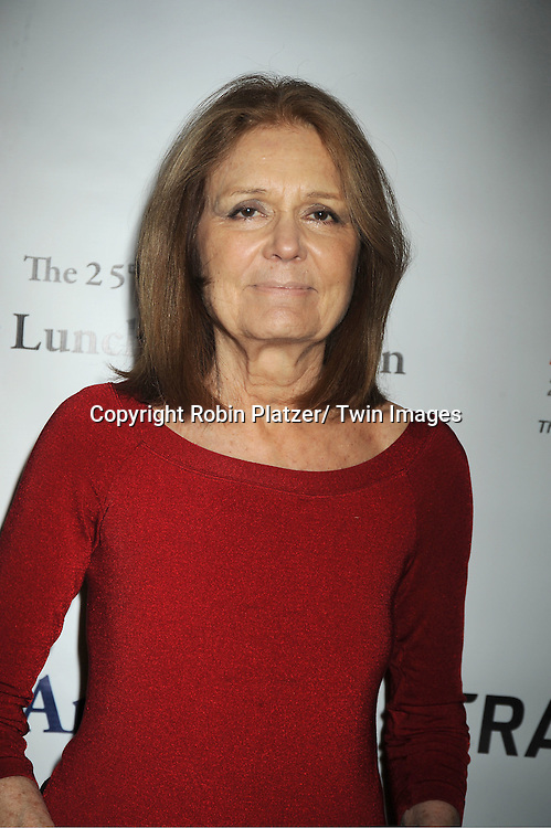 """Gloria Steinem attends the 25th Annual Citymeals-on-Wheels """"Power Lunch for Women""""  on November 18, 2011 at The Pierre Hotel in New York City."""