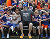 David Wright, New York Mets captain, poses for pictures with fans during a visit to Coleman Country Day Camp in Merrick on Monday, Aug. 8, 2016.