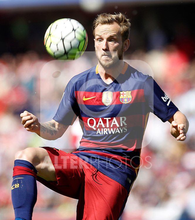 FC Barcelona's Ivan Rakitic during La Liga match. May 14,2016. (ALTERPHOTOS/Acero)