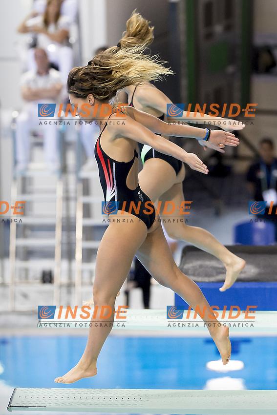 Italy DALLAPE Francesca ITA, CAGNOTTO Tania ITA<br /> 3m. Springboard Synchro Women <br /> FINA/NVC Diving World Series 2016 Dubai<br /> Hamdan Sport Complex -Dubai United Arab Emirates U.A.E. UAE<br /> March 17 -19 2016<br /> Day 0 March 16th<br /> Photo G.Scala/Insidefoto/Deepbluemedia