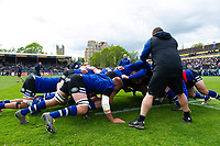 Bath Rugby players in action during the pre-match warm-up. Gallagher Premiership match, between Bath Rugby and Wasps on May 5, 2019 at the Recreation Ground in Bath, England. Photo by: Patrick Khachfe / Onside Images