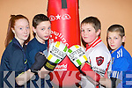 Sarah McCarthy Athea, Eoin Fitzgerald Killarney, Darren O'Connor Rathmore and Brandon Murphy Rathmore who will be competing in the County boxing championships in Killarney next Saturday
