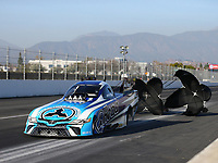 Feb 9, 2018; Pomona, CA, USA; NHRA funny car driver Jonnie Lindberg during qualifying for the Winternationals at Auto Club Raceway at Pomona. Mandatory Credit: Mark J. Rebilas-USA TODAY Sports