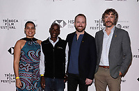 "NEW YORK CITY - APRIL 22: (L-R) Adjani Costa, Tumeletso ""Water"" Setlabosha, Neil Gelinas and Steve Boyes attend  National Geographic's ""Into The Okavango"" Screening at Tribeca Film Festival at Tribeca Festival Hub on April 22, 2018 in New York City. (Photo by Anthony Behar/National Geographic/PictureGroup)"