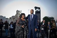 Roma, 5 Giugno, 2013. Samuel Lee Jackson con la moglie LaTanya Richardson al 'One Night Only' Roma organizzato da Giorgio Armani al Palazzo della Civilta Italiana.