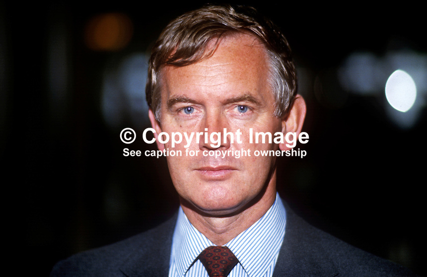 John Moore, MP, Secretary of State for Transport, Conservative Party, UK, platform, annual conference, October, 1986. 19861011JM3<br /> <br /> Copyright Image from Victor Patterson, 54 Dorchester Park, Belfast, UK, BT9 6RJ<br /> <br /> t1: +44 28 9066 1296 (from Rep of Ireland 048 9066 1296)<br /> t2: +44 28 9002 2446 (from Rep of Ireland 048 9002 2446)<br /> m: +44 7802 353836<br /> <br /> e1: victorpatterson@me.com<br /> e2: victorpatterson@gmail.com<br /> <br /> The use of my copyright images is subject to my Terms &amp; Conditions.<br /> <br /> It is IMPORTANT that you familiarise yourself with them. They are available on my website at www.victorpatterson.com.<br /> <br /> None of my copyright images may be used on a website unless they are visibly watermarked, i.e. &copy; Victor Patterson within the body of the visible image. Metadata denoting my copyright must NOT be deleted. <br /> <br /> Web use is extra at currently recommended NUJ rates.