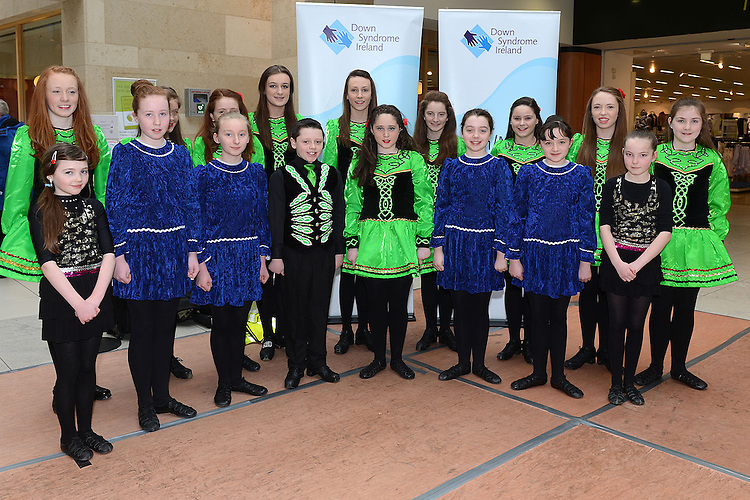 Menbers of the McCarthy school of irish dancing who performed a dance display in aid of Down Syndrome Ireland Louth Meath branch at the Laurence Town Centre. Photo:Colin Bell/pressphotos.ie