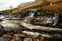 Waterfall, River Etive, Glen Coe, Scotland