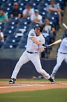 Tampa Tarpons designated hitter Adam Lind (23) swings at a pitch during a game against the Fort Myers Miracle on May 2, 2018 at George M. Steinbrenner Field in Tampa, Florida.  Fort Myers defeated Tampa 5-0.  (Mike Janes/Four Seam Images)