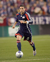 New England Revolution defender Jay Heaps (6). The Colorado Rapids defeated the New England Revolution, 1-0, at Gillette Stadium on April 12, 2008.